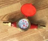 Đồng hồ nước nóng lắp ngang bằng gang nối ren Komax