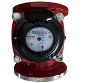 Đồng hồ nước nóng lắp ngang thân gang nối bích Komax