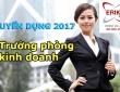 Tuyển gấp vị trí Trưởng phòng kinh doanh mức lương cao tại Hà Nội