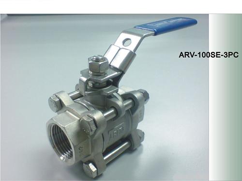 VAN BI INOX LẮP REN ARITA SS 3PC SE / ISO 5211-STAINLESS STEEL BALL VALVE